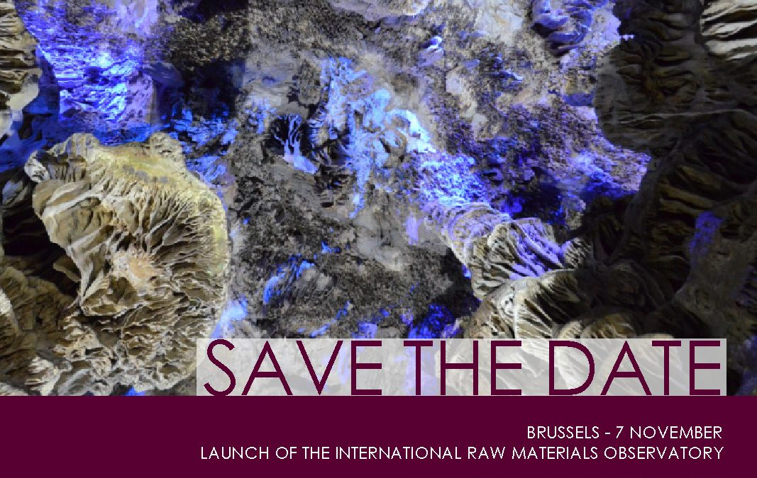 Save the date: Launch of the International Raw Materials Observatory